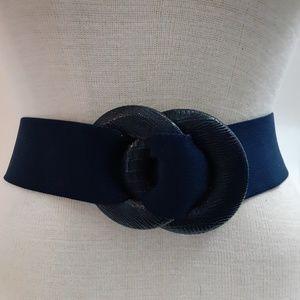 Accessories - Vintage blue stretchy belt w fastening